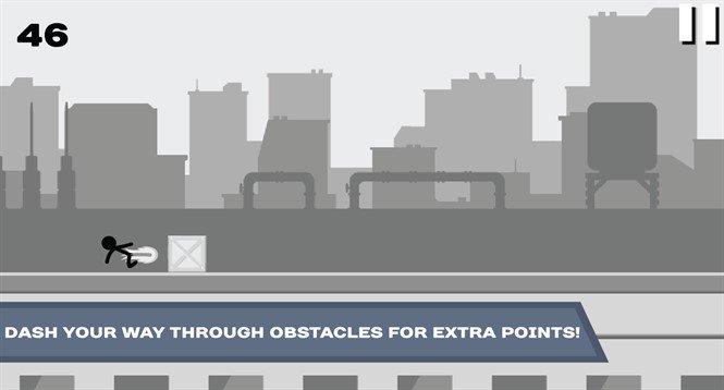 Хак для Stickman Roof Runner на Android. Бег по крышам!