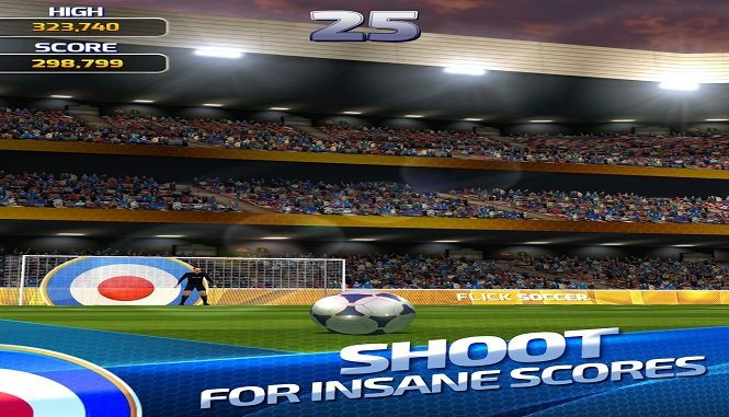 Крутой футбольный симулятор Flick Soccer 15 на android